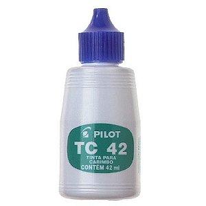 TINTA PARA CARIMBO AZUL 42ML PILOT TC42 UNID.