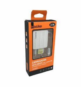 CARREGADOR INTELIGENTE 2 USB MICRO USB V8 3.1A BASIKE CAR-9014