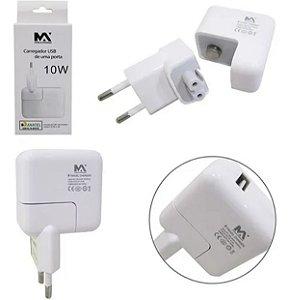 FONTE CARREGADOR USB 10W 5V 2.4A MAXMIDIA MAX-CAR89