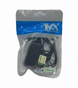 CARREGADOR DE CELULAR 5V 1A MICRO USB V8 SAQUINHO MAXMIDIA MAX-CAR96