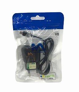 CARREGADOR DE CELULAR 5V 2.1A MICRO USB V8 SAQUINHO MAXMIDIA MAX-CAR97