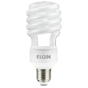 LAMPADA FLUORESCENTE ESPIRAL 20W,127V,6400K,E27 ELGIN
