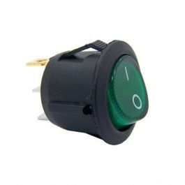 CHAVE POWER ON/OFF VERDE KCD1-106 6A/250V