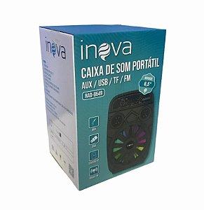 CAIXA DE SOM BLUETOOTH/ USB/ AUX/ TF/ FM INOVA RAD-8649