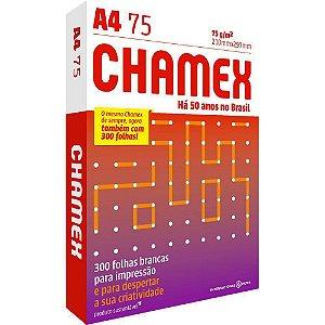 PAPEL SULFITE A4 CHAMEX 75G 300 FOLHAS 210mmX297mm