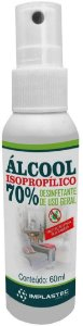 ALCOOL ISOPROPILICO 70% 60ML IMPLASTEC