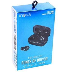 FONE DE OUVIDO 1 WIRELESS BLUETOOTH SOM PURO INOVA FON-8615