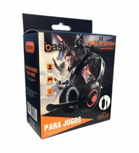 FONE DE OUVIDO PARA JOGOS COM MICROFONE - CONEXÃO P2 - PS4/X-ONE BASIKE FON-9024