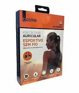 FONE DE OUVIDO AURICULAR ESPORTIVO SEM FIO BASIKE BA-FON6672