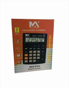 CALCULADORA ELETRONICA 8 DIGITOS MAXMIDIA MAX-815A