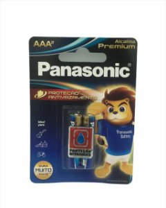 PILHA PANASONIC ALCALINA PREMIUM  AAA C/ 2  (03743) LR03EGR/2B96