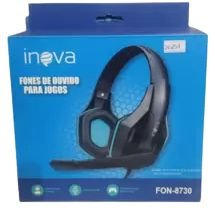 FONE DE OUVIDO GAMER COM MICROFONE INOVA FON-8730