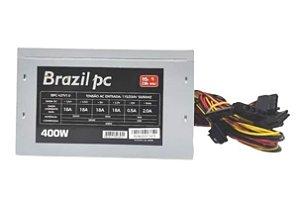 FONTE ATX 400W REAL BRAZILPC BPC-427V1.0 24 PINOS OEM