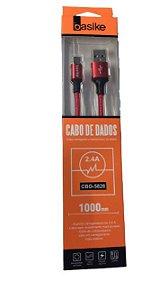 CABO DE DADOS USB TYPE-C 2.4A 1M BASIKE CBO-5828