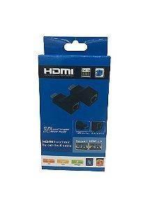 EXTENSOR/ADAPTADOR HDMI  VIA 1 CABO  DE REDE RJ45  CAT5E/6