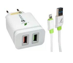 CARREGADOR ULTRA RAPIDO LIGHTING C/2 USB MOD. XC- UR18 MARCA: X-CELL