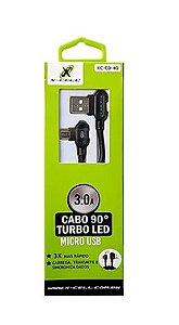 CABO DE DADOS V8 USB/MICRO USB -MOD.XC-CD-40 - MARCA: X-CELL