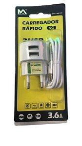 CARREGADOR LIGHTNING DE PAREDE COM SAIDA USB MAX-CAR130