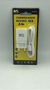 CARREGADOR LIGHTNING DE PAREDE COM SAIDA USB MAX-CAR131