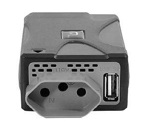 INVERSOR POTENCIA 12V PARA 110V 150W SAIDA USB 1A