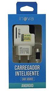 CARREGADOR INTELIGENTE V8 INOVA 2USB CAR-G5063