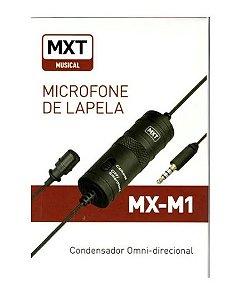 MICROFONE DE LAPELA CONDENSADOR OMNI-DIR MXT MX-M1