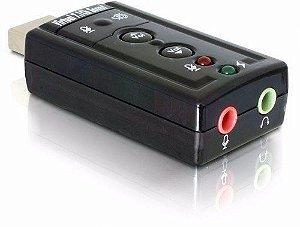 ADAPTADOR DE PLACA SOM USB 2.0 EXTERNO 7.1 SOUND