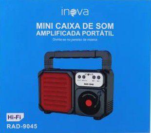 CAIXA DE SOM 6W AMPLICADA PORTÁTIL INOVA RAD-9045