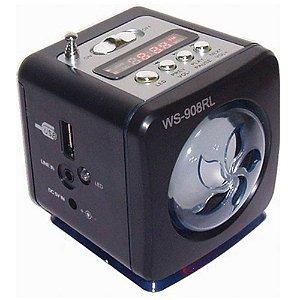 RÁDIO RECARREGÁVEL MP3/SD/FM/USB GRASEP D-908