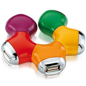 HUB USB 2.0 4 PORTAS TAXA DE TRANSFERENCIA 480MBPS X-CEEL BLISTER