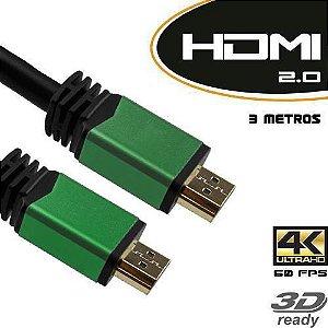 CABO HDMI 2.0 TV 3D 4K M/M FILTRO 3 METROS - EMPIRE