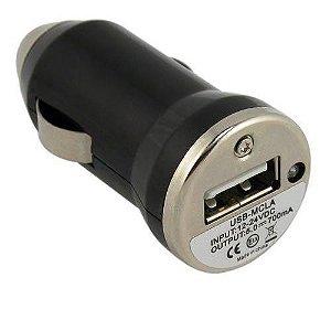 FONTE CARREGADORA USB 1000MA VEICULAR
