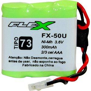 """BATERIA P/ TELEFONE SEM FIO MOD. """" FLEX """" FX-50U 3.6V 300MAH"""