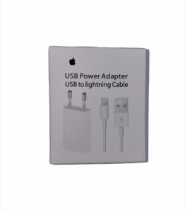 CARREGADOR IPHONE 5W USB POWER ADAPTER USB TO LIGHTNING CABLE