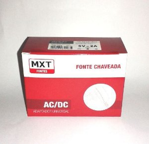 FONTE CHAVEADA PARA TV BOX 5V 2A P4 C+ 2.1 X 5.5 MM