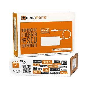 FONTE PARA NOTEBOOK MAISMANIA 20V 3.25A POSITIVO/LENOVO/ITAUTEC/TOSHIBA/PHILCO/CCE PLUG 5.5x2.5mm