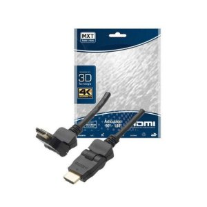 CABO HDMI ARTICULADO 90 /180 HIGH SPEED 30AWG DOURADO 1,5M