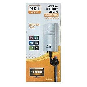 ANTENA AMPLIF. VHF/UHF/HDTV/FM INTERNA/EXTERNA 20DB MDTV-600