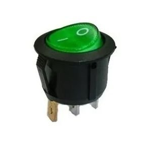 CHAVE POWER ON/OFF VERDE KCD1-105 6A/250V