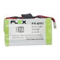 """BATERIA P/ TELEFONE SEM FIO MOD. """" FLEX"""" FX-65U 2.4V 600MAH"""