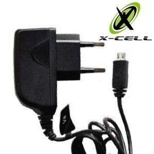 CARREGADOR 1,5A P/ CELULAR V8 COM SELO ANATEL X-CELL XC-V8/MICRO USB