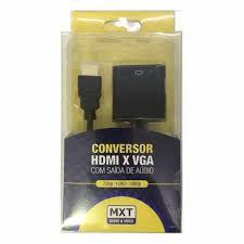 CONVERSOR (ENTRADA) HDMI PARA (SAIDA) VGA COM AUDIO