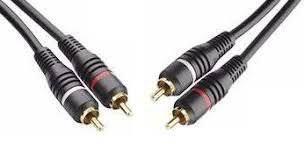 CABO RCA 2 + 2 RCA PLUG METAL, OD:4MM, 1.8M