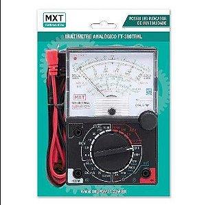 MULTIMETRO ANALOGICO FT-360TRNL COM LED INDICADOR DE CONTINUIDADE
