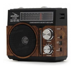 RADIO PORTATIL FM/AM/USB GRASEP D-1602