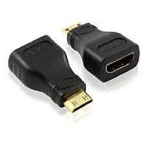 ADAPTADOR HDMI FEMEA PARA MINI HDMI MACHO UNIDADE