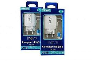CARREGADOR INTELIGENTE INOVA PRIME V8 3.1A 2 USB CAR-8421