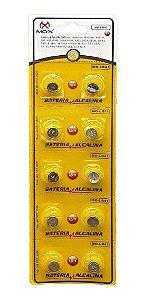 BATERIA BOTAO MOX MO-LR41 (CARTELA C/ 10 PCS)