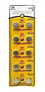 BATERIA BOTAO MOX MO-LR44 (CARTELA C/10PCS)