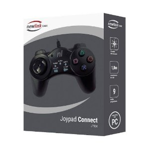 CONTROLE JOYPAD CONNECT PC USB NEWLINK JP304